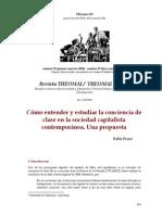 P. Pérez - Cómo entender y estudiar la conciencia de clase en la sociedad capitalista contemporánea.pdf