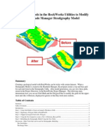 Editing a Stratigraphy Model Created With the Borehole Manager