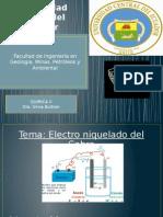 Electroniquelado Quìmica II  UCE