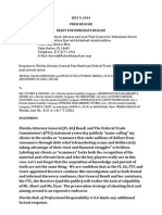 Letter from defendants to Attorney General Pam Bondi and FTC