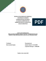 Implicaciones Penales, Civiles, Sociales y Administrativas Del Gerente Como Representante Legal de Las Organizaciones.