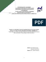 VISION A LA DINAMICA SOCIAL MANIFESTADA EN LAS SECCIONES DE 1RO Y 2DO DE LA ESCUELA NACIONAL BARBULA I