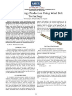 low cost energy production using windbelt technology