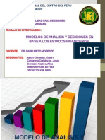 Modelos de Analisis y Decisiones en Base a Los Estados Financieros