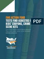Asbestos in Kids Crayons Crime Scene Kits