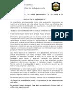 El Tacto Pedagógico. Ficha de Lectura.