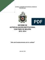 Informe Final Autoevaluación UNAN Managua 2013 2014