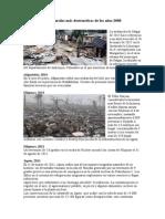 Desastres Desde El Año 2000