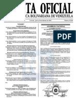 Sumario Gaceta Oficial 39.369