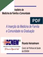 A Inserção Da MFC Na Graduação Em Medicina