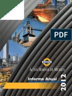 Informe Anual Ahmsa2012