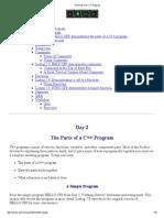 The Parts of a C++ Program