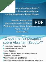 Palestra Zacuto e Pedro Nunes