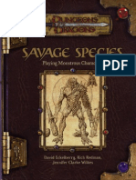 D&D 3E Savage Species