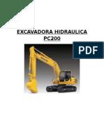EXCAVADORA HIDRAULICA PC200