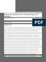 Role of Environmental Monitoring -- Manufacture of Sterile Drugs and Biologics_ _ American Pharmaceutical Review