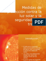 Medidas de Protección Contra La Luz Solar