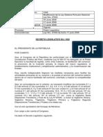 Decreto Legislativo 1022 Modificacion de La Ley 27943