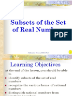 2.1 Subsets of Real Numbers