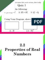 2.2. Properties of Real Numbers
