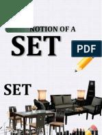 1.1 Notion of a Set
