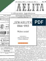 """IZRAELITA"" 1866–1915. Wybór źródeł"