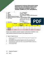 Laporan Kursus kreativiti Pegagogi Sains Tahap 2.doc