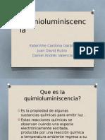 Diapositivas quimioluminiscencia
