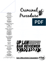 UP 2009 Remedial Law (Criminal Procedure)