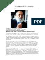 Pedagogía Del Oprimido de Paulo Freire