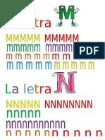 m n las letras