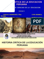 Ppt Exposicion Historia Critica de La Educacion Peruana