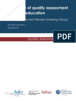 HEFCE 2015 the Future of Quality Assessment in HE - Discussion Document - January
