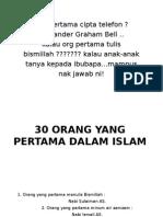 30 Org Yang Memulakan Dlm Islam