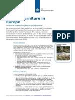 Product Factsheet Garden Furniture Europe Home Decoration Textiles 2014