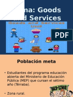 Actividades de Bienes y Servicios Inglés