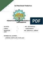 PROGRAMAS DE DISEÑO CARTOGRAFICA