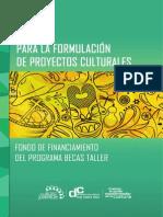 GUIA FORMULACION PROYECTOS CULTURALES