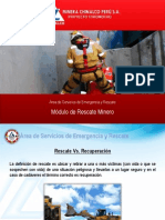 Curso Brigada Modulo Rescate Minero