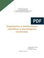 Organismos e instituciones científicas y tecnológicas nacionales
