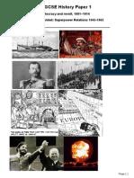 Edexcel IGCSE History P1 Sample Questions