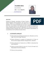 Currículum Vitae Camila Palomino