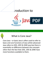 Introduction To Core Java - SpringPeople
