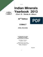 India Mineral Yearbook 2013 Cobalt
