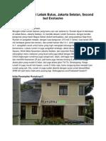 Dijual Rumah Di Lebak Bulus, Jakarta Selatan, Second but Exclusive