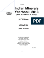 India Mineral Yearbook 2013 Vanadium