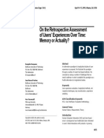 On the Retrospective Assessment of Users' Experiences Over Time