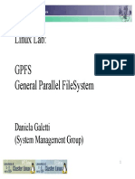 General Parallel Filesystem GPFS