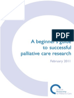 A Beginners Guide to Successful Palliative Care Research