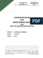 Job Spec for Weigh Bridge